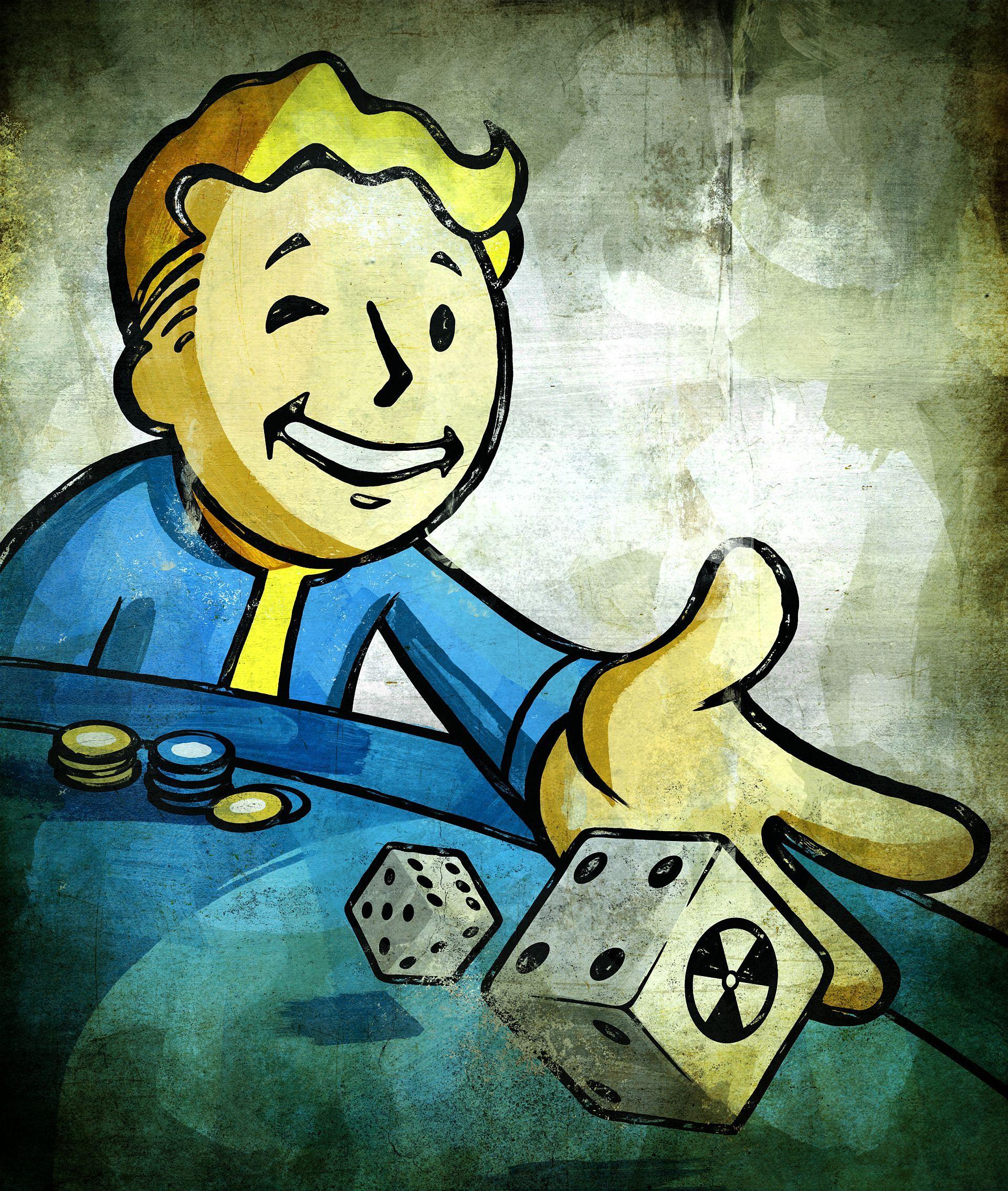 fallout vault boy dice Poster Pinterest Fallout