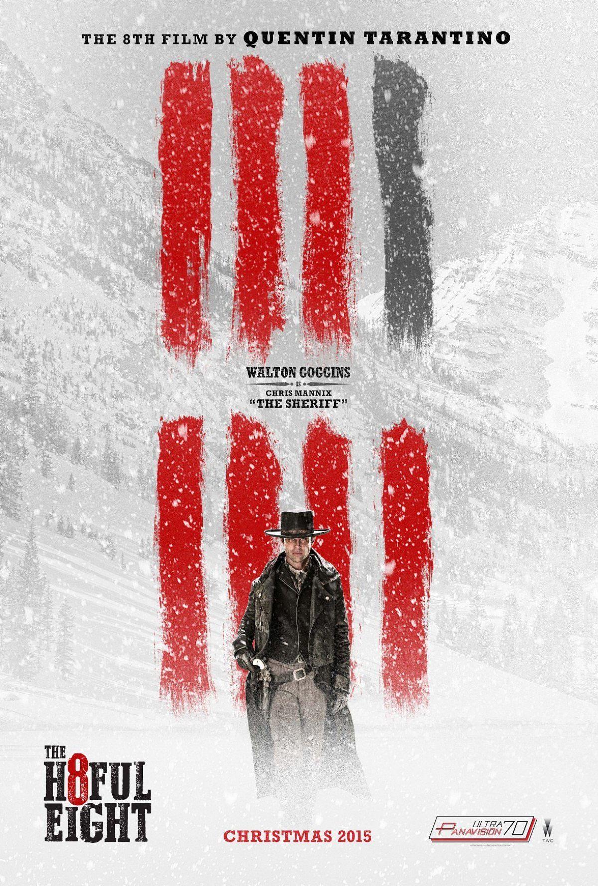 Walton Goggins as Chris Mannix The Sheriff. #H8tefulEight.