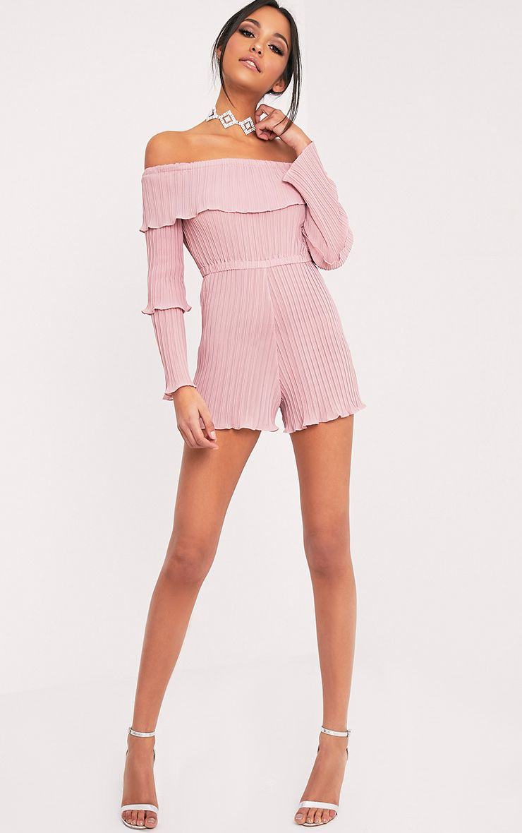 Gabriella Pink Pleated Frill Playsuit Image 5 | Fashion Trends ...