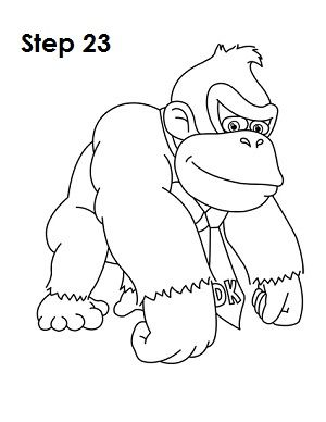 How To Draw Donkey Kong Donkey Kong Drawings Donkey Kong Party