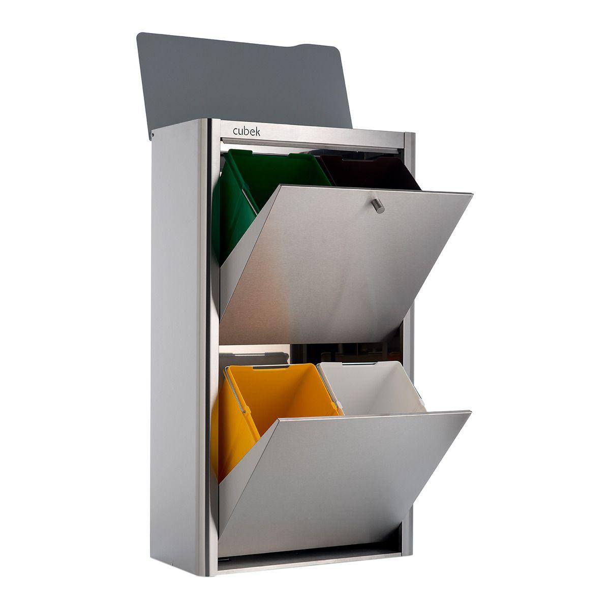 Cubo De Basura Para Reciclar 4 X 20l Cubek Inox Don Hierro Hogar  # Muebles Zapateros El Corte Ingles