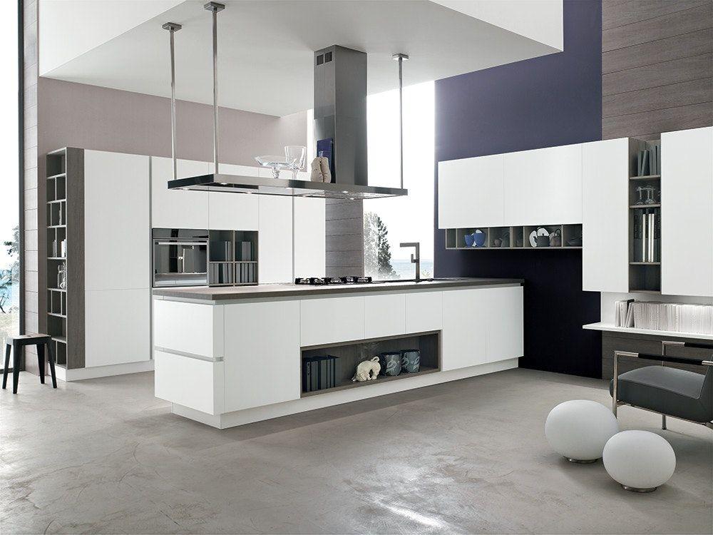 Cucina con isola modello Life - Stosa cucine | Soggiorno moderno ...