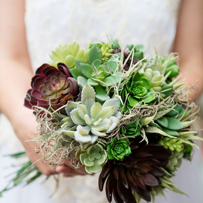 Succulent Highlight Bridal Bouquet