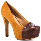 Jessica Simpson's Brown Elisey - Tan Brown Stamped for 99.99 direct from heels.com