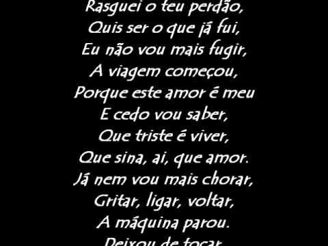 Amor Electro A Maquina Acordou Letra Com Imagens Amor