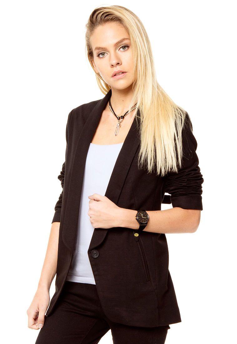8757c3dda4cb Blazer Negro Portsaid Miralles | Office Stylism: Blazer outfits ...