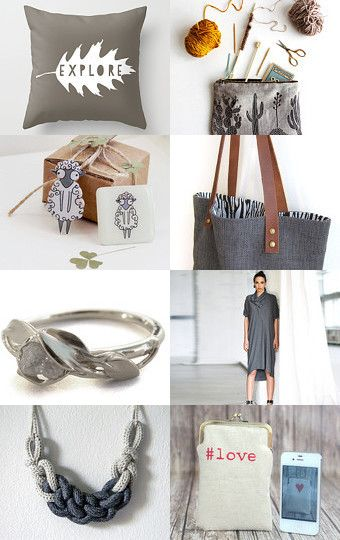 Lady in grey by Hagit Colb on Etsy--Pinned with TreasuryPin.com