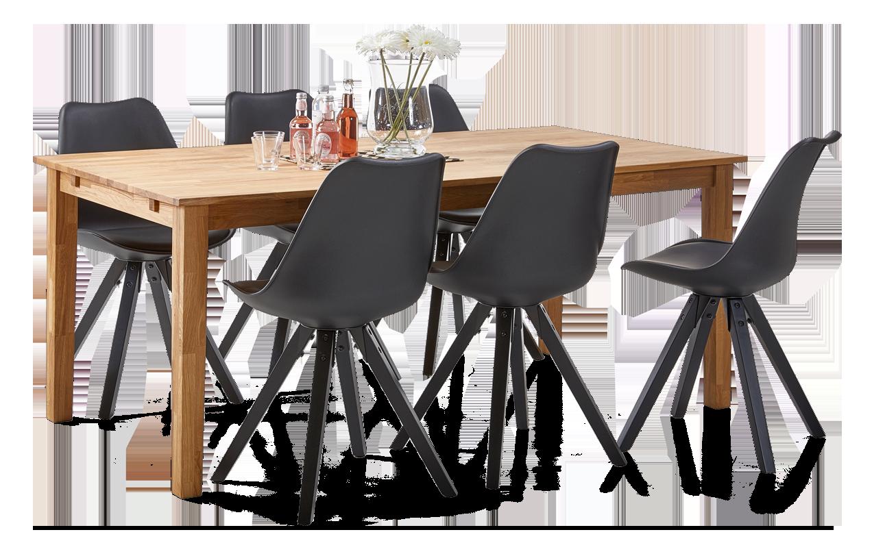 RIO-ruokapöytä ja 6 DYLAN-tuolia