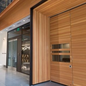 Bay Area Metro Center - Interior Panelling - This building used to be a World War II tank assembly plant in a former life, and then served as a postal service facility before being revamped by Perkins Will with an award-winning design.