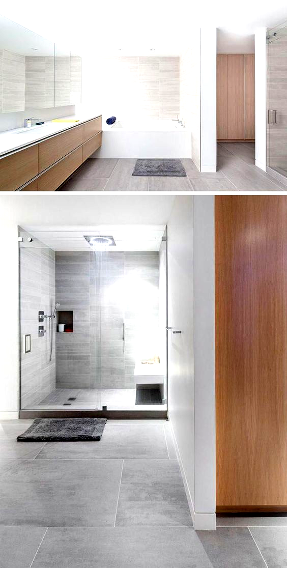Tile Idea Use Large Tiles On The Floor And Walls In 2020 With