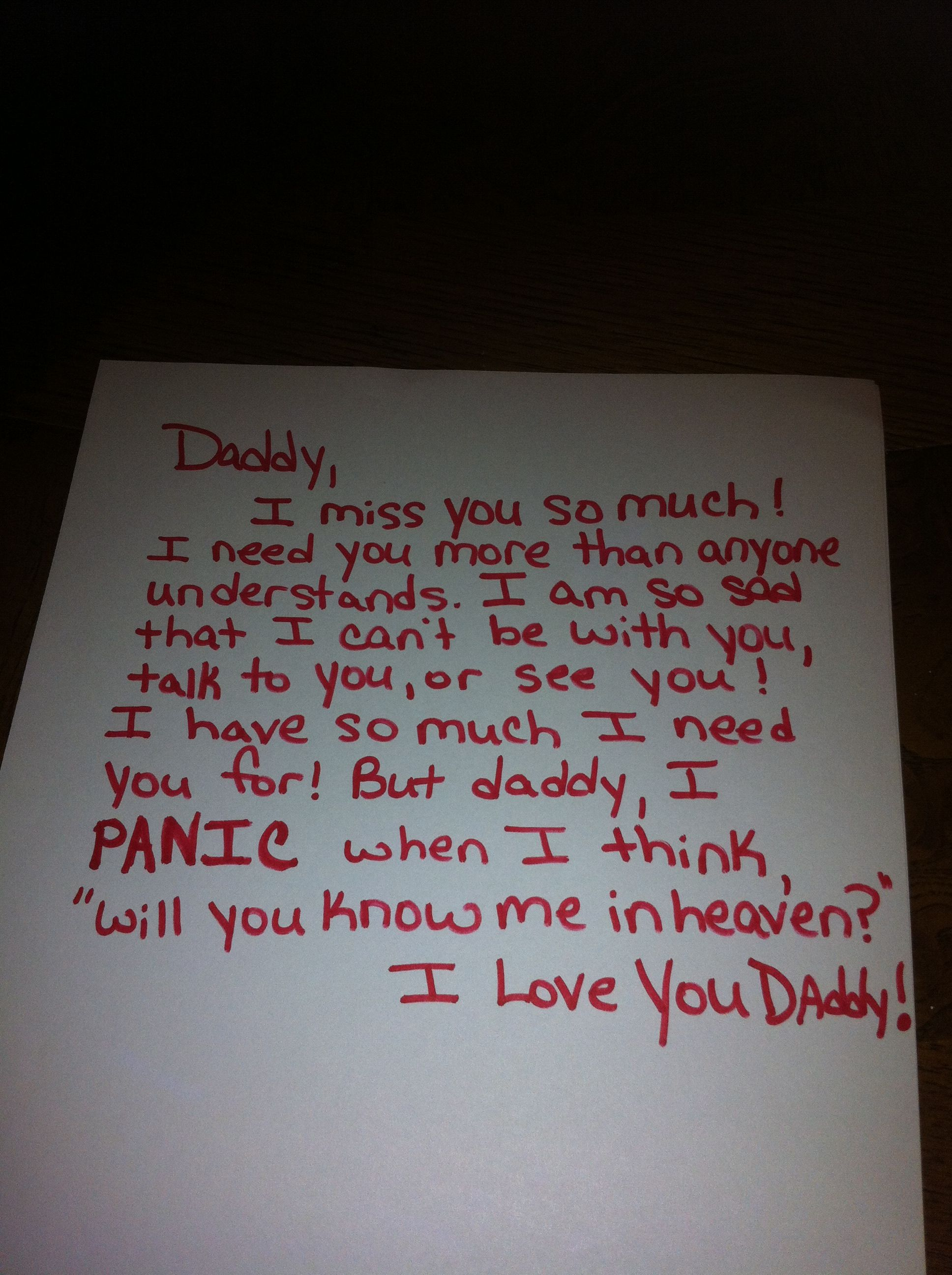 I love you always and forever, daddy's girl