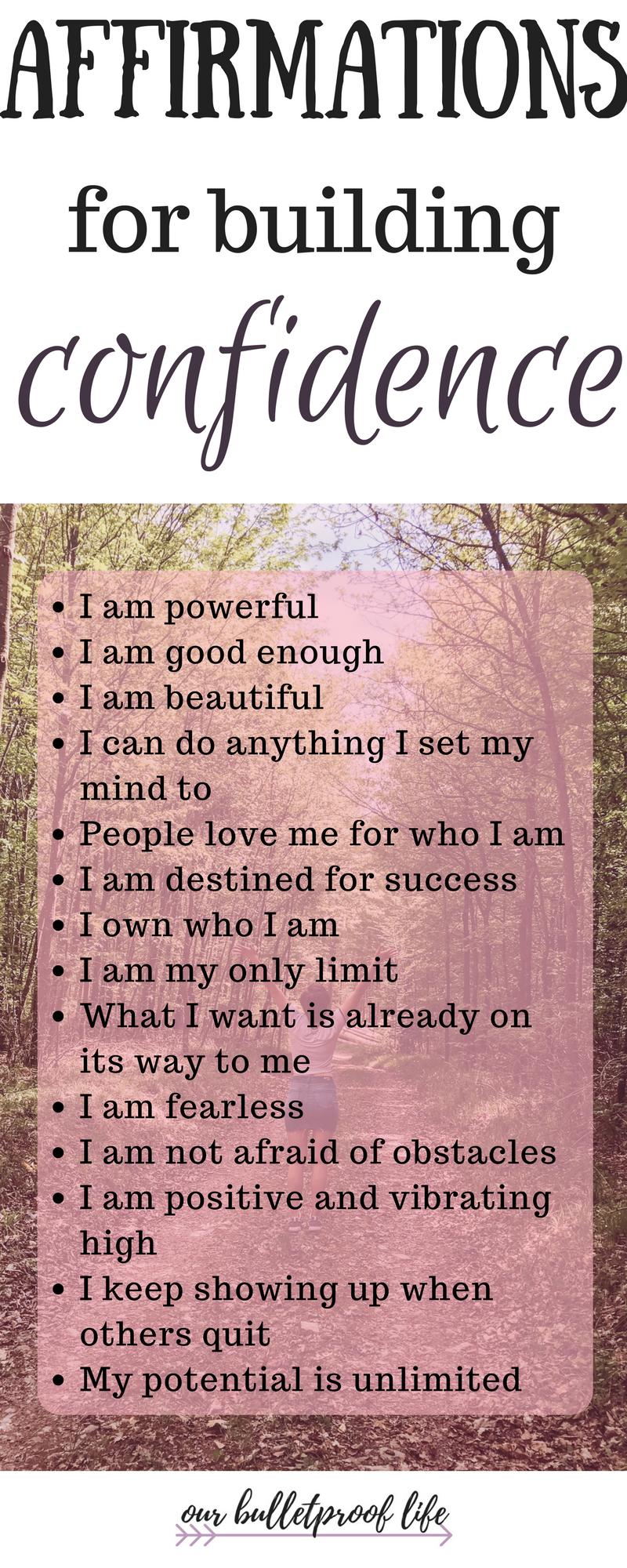 Positive Affirmations Self Worth