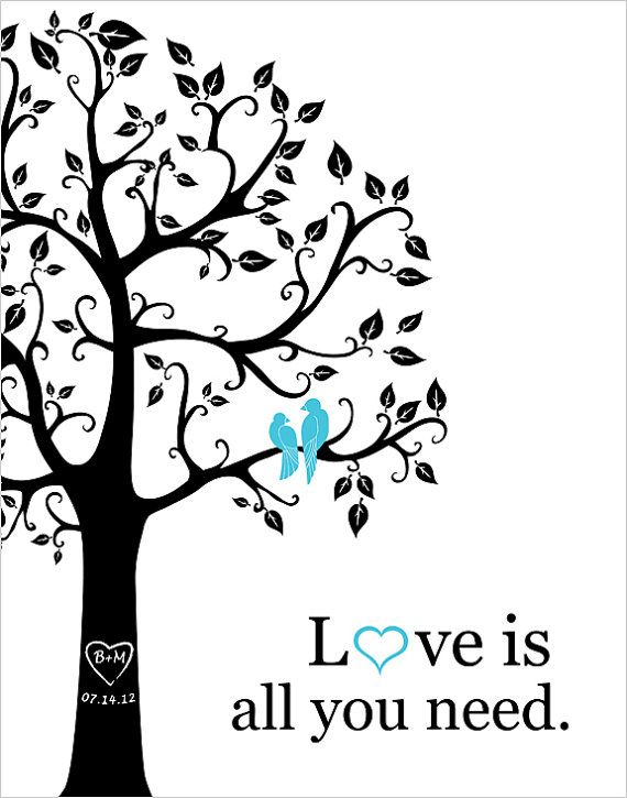 Love is all you need Personalized Wedding Gift  1st by fancyprints, $26.00