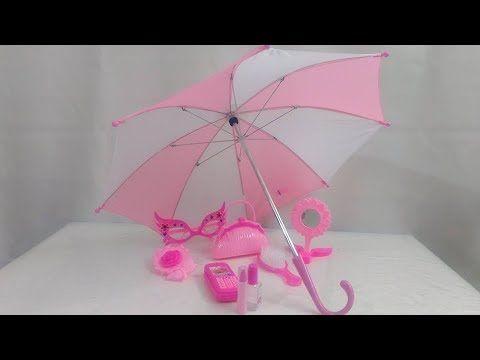 لعبة أغراض البنات مع الشمسية الحقيقية العاب المكياج و تصفيف الشعر ال Umbrella