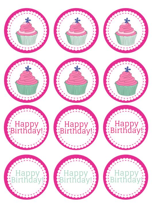 Saturday Freebies Birthday Cupcake Toppers Birthday Cupcakes Cupcake Toppers Cupcake Birthday Party