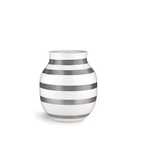Omaggio Vase Silver Medium