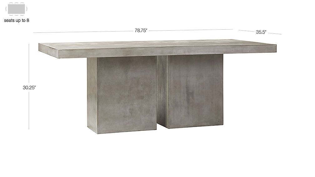 Fuze Large Grey Table With Images Outdoor Dining Table Stone