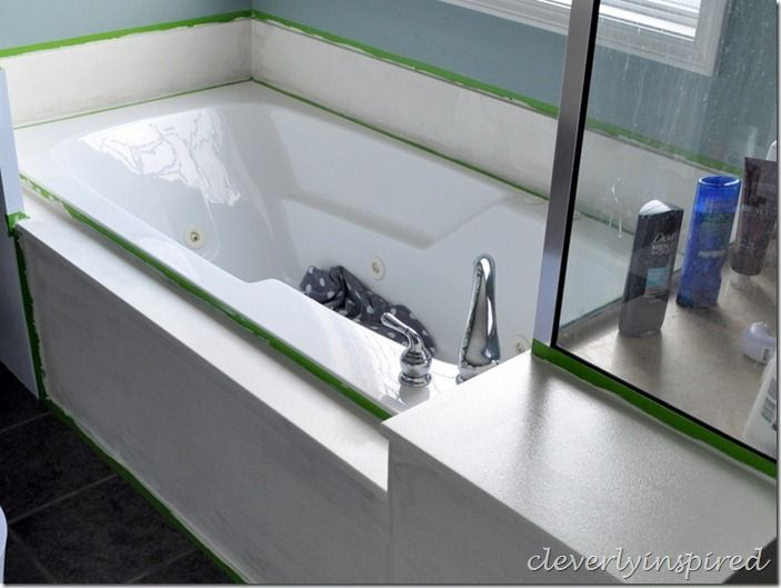 how to paint cultured marble tub surround @cleverlyinspired (12 ...