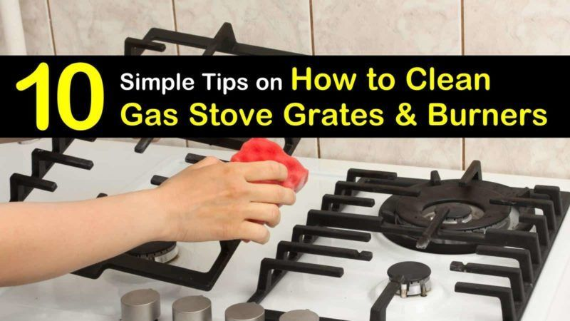 Discover how to clean gas stove grates naturally without