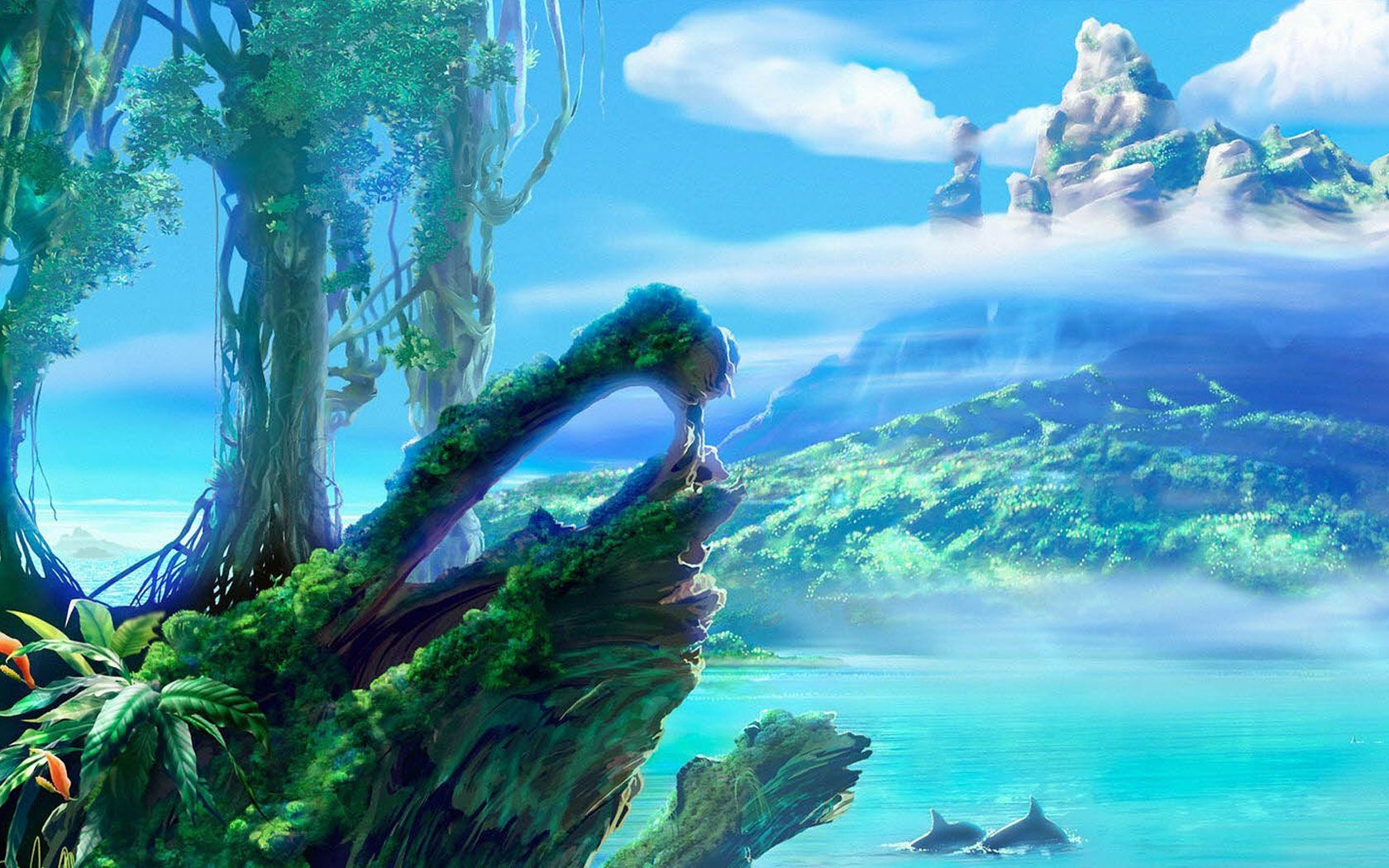 Anime Inspired Hd Fantasy Wallpapers For Your Collection: Anime Landscape - Google Search