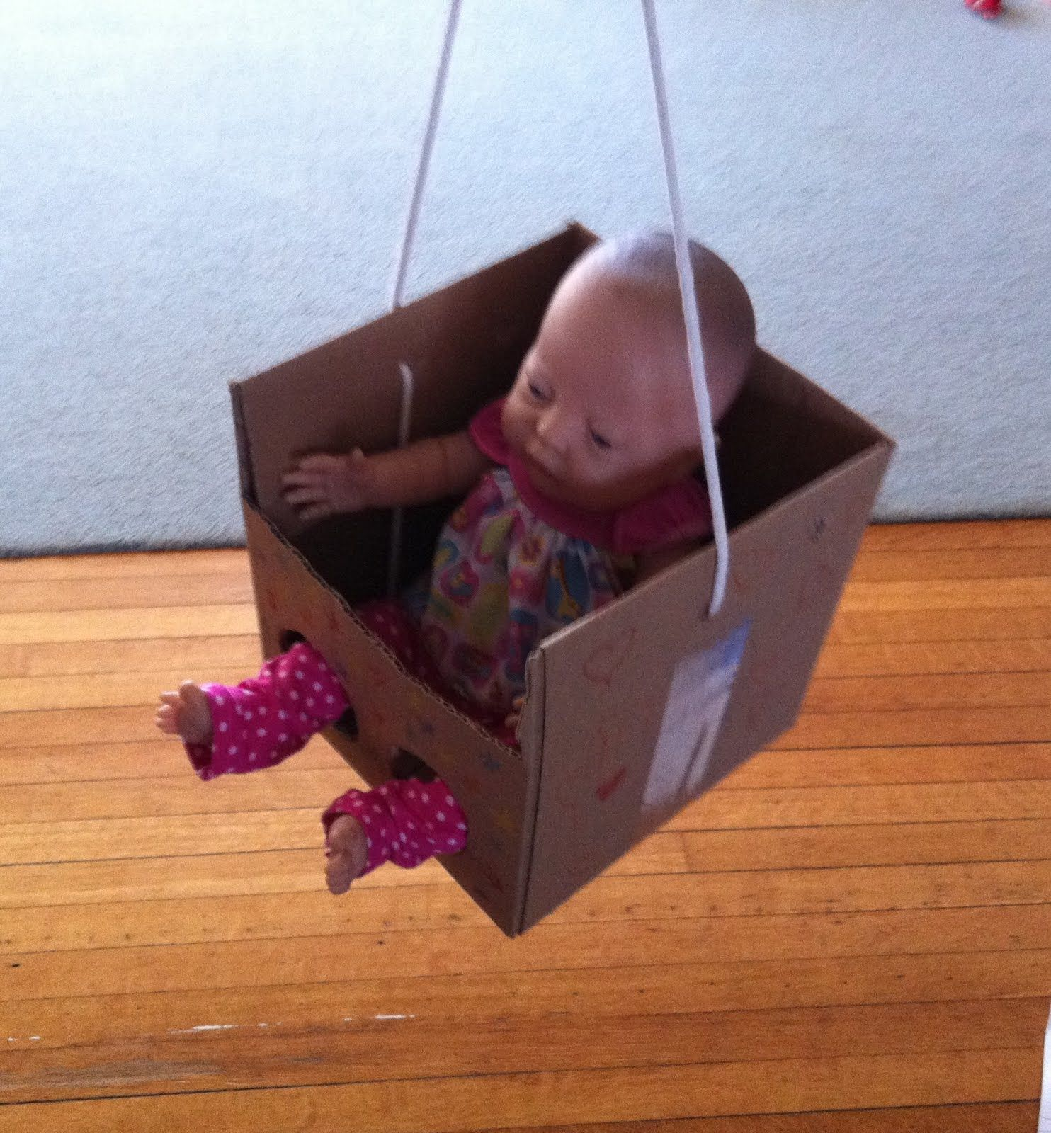 how to make swing with cardboard