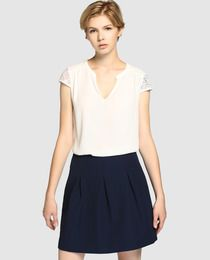 ae6008103 Falda de mujer Fórmula Joven de tablas en azul marino   Cosas que ...