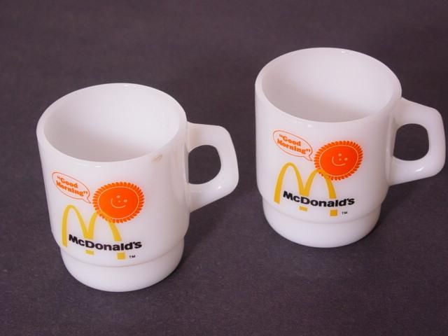 "Vintage McDonald's ""Good Morning"" coffee mugs (Fire King)"