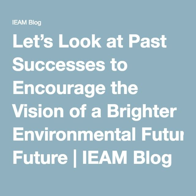 Let's Look at Past Successes to Encourage the Vision of a Brighter Environmental Future | IEAM Blog