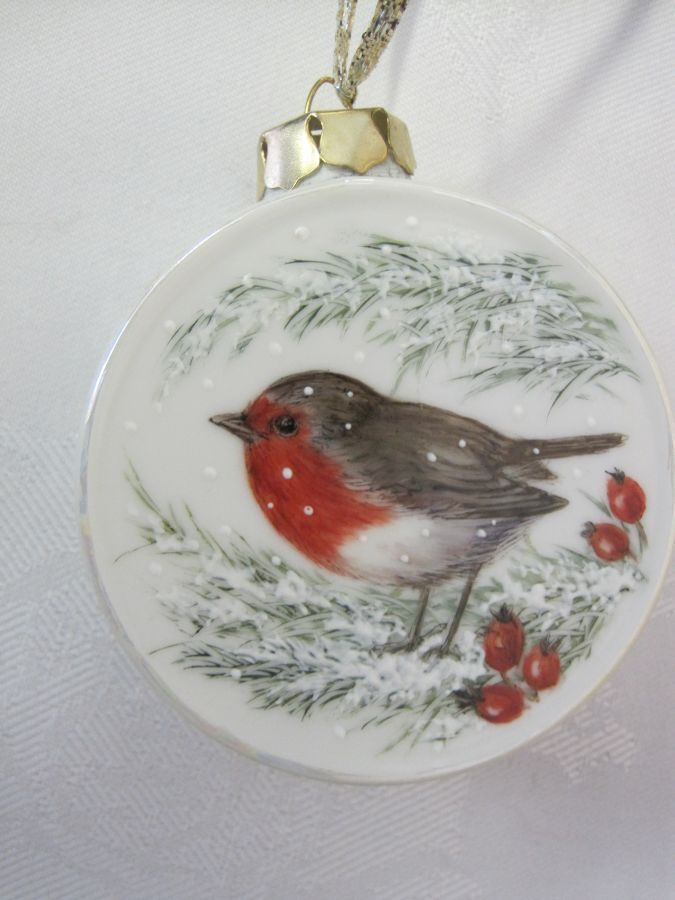 Robin Redbreast by Jackie Halhead, UK | Painted christmas ...