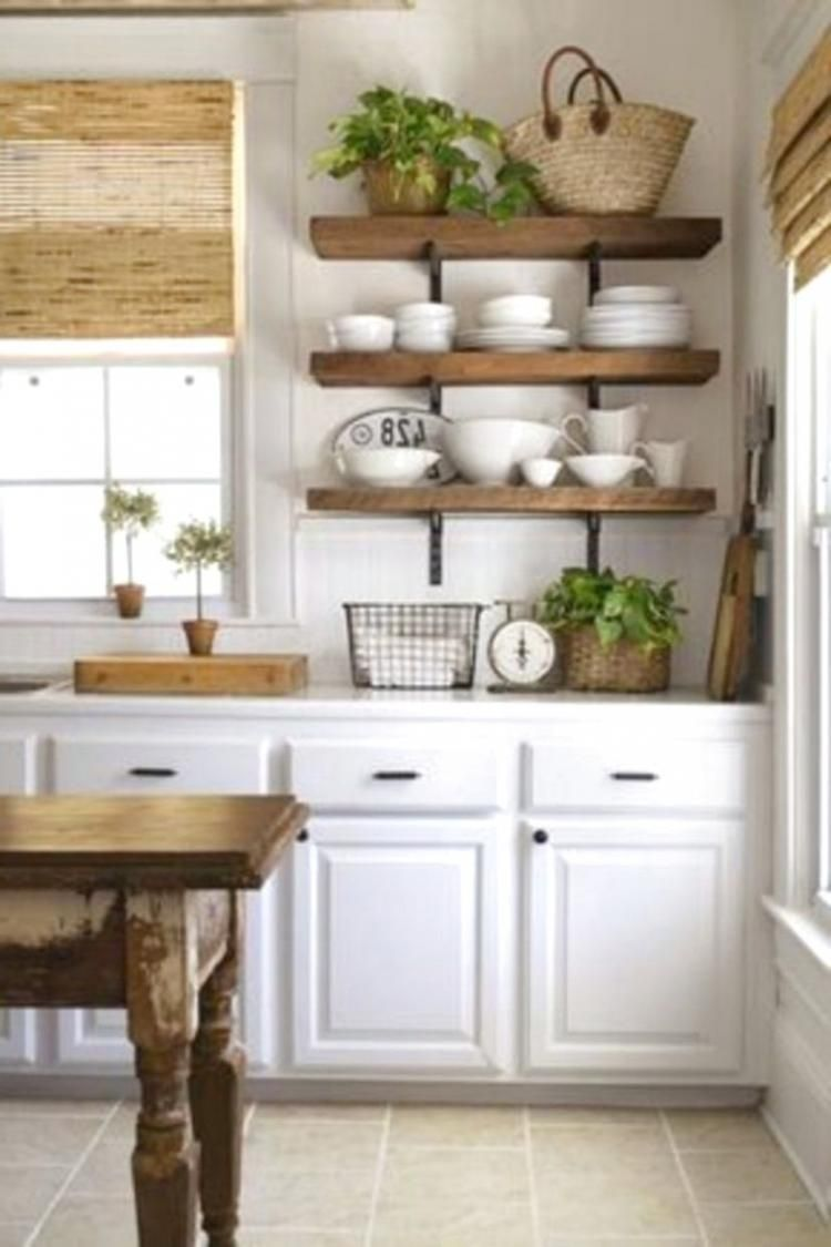 40 awesome rustic kitchen decor open shelves ideas