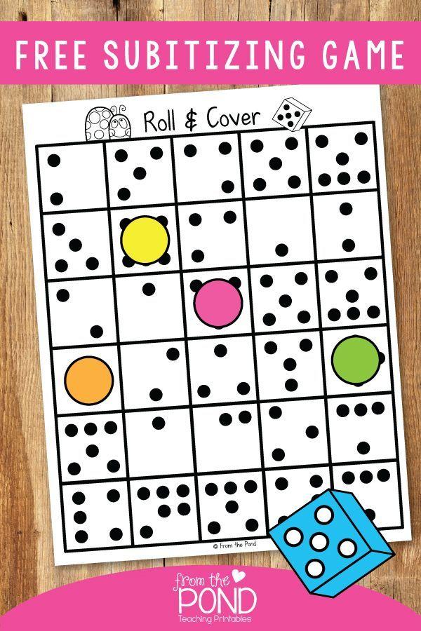 Subitizing Fun Kindergarten math activities