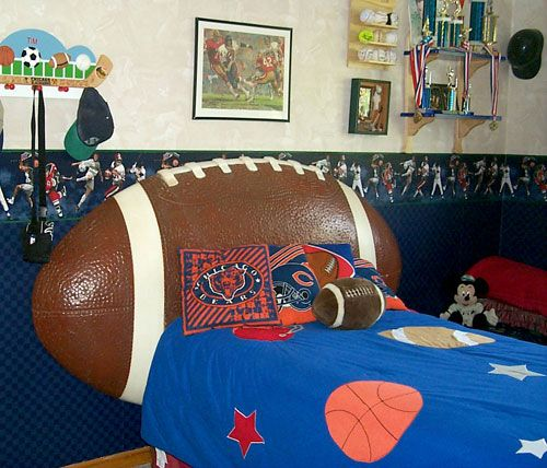 Football Headboard My Son Would Love This