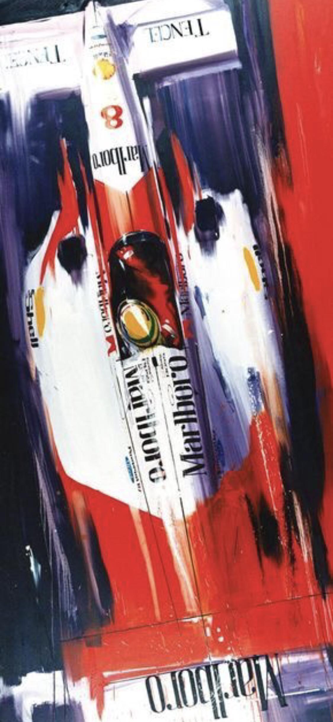 Wallpaper Iphone X Ayrton Senna Pintura Automotiva Arte Para Automovel