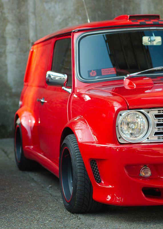 Mini Cooper Panel Van Custom Favorite Cars Mini Trucks Red Mini