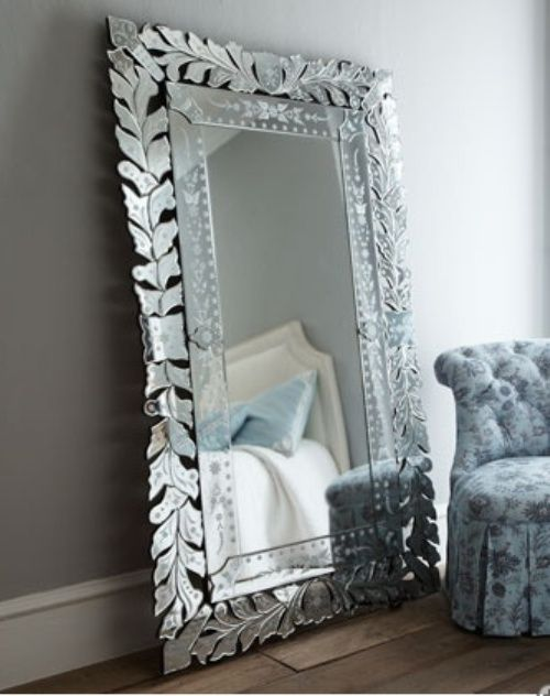 Floor mirrors such as this Venetian one create a big impact in most ...
