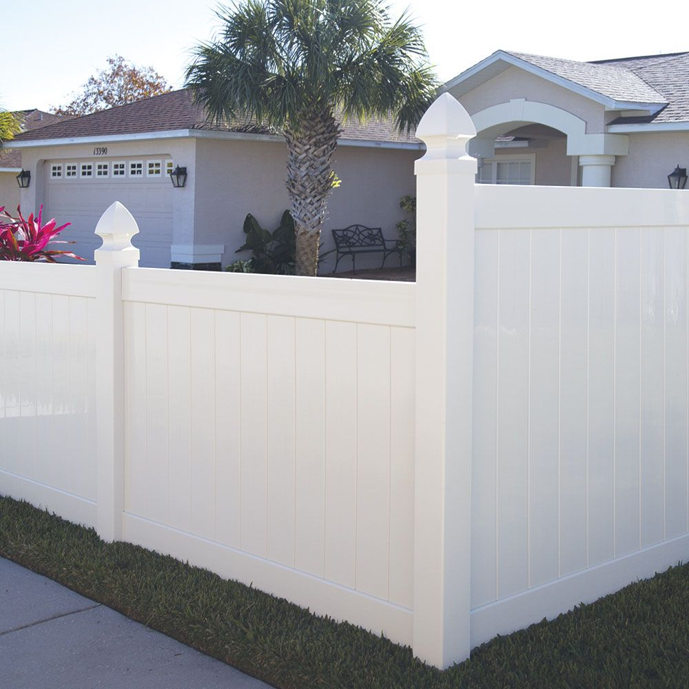 Hampton 6x6 Vinyl Privacy Fence Kit Vinyl Fence Freedom Outdoor Living For Lowes Vinyl Privacy Fence Vinyl Fence Vinyl Fence Panels