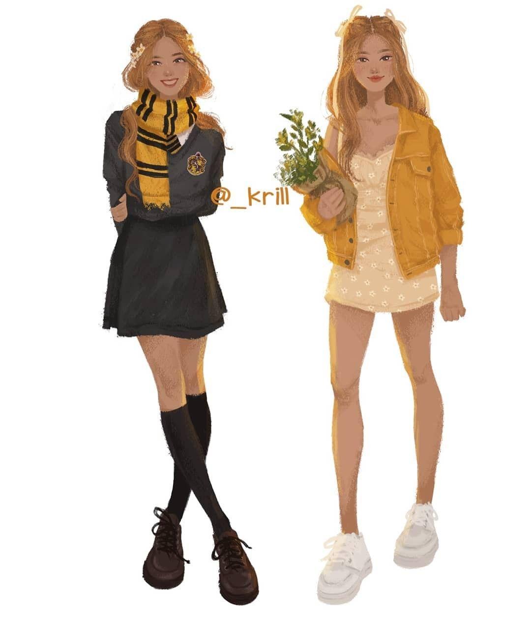 Pin By Keksik Lyapa On Harry Potter In 2020 Harry Potter Outfits Harry Potter Anime Harry Potter Drawings