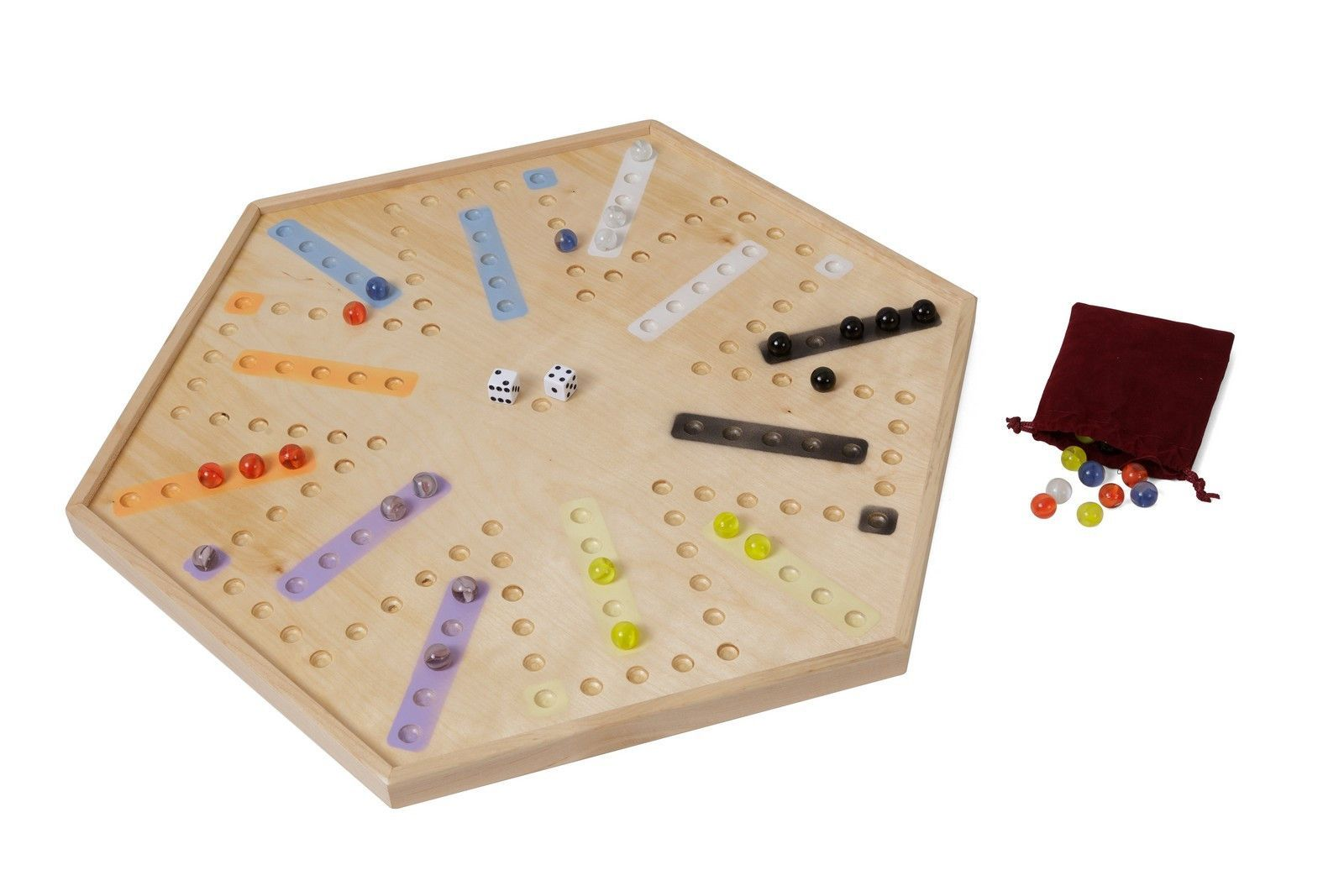"""20"""" Wooden Aggravation/Chinese Checkers Combo Game Board – AmishToyBox.com"""