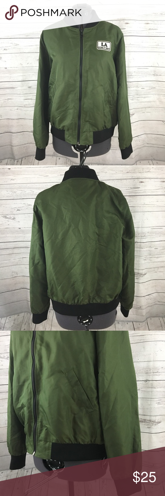 Forever 21 Army La Does It Best Bomber Jacket Bomber Jacket Forever 21 Bomber Jacket Jackets [ 1740 x 580 Pixel ]