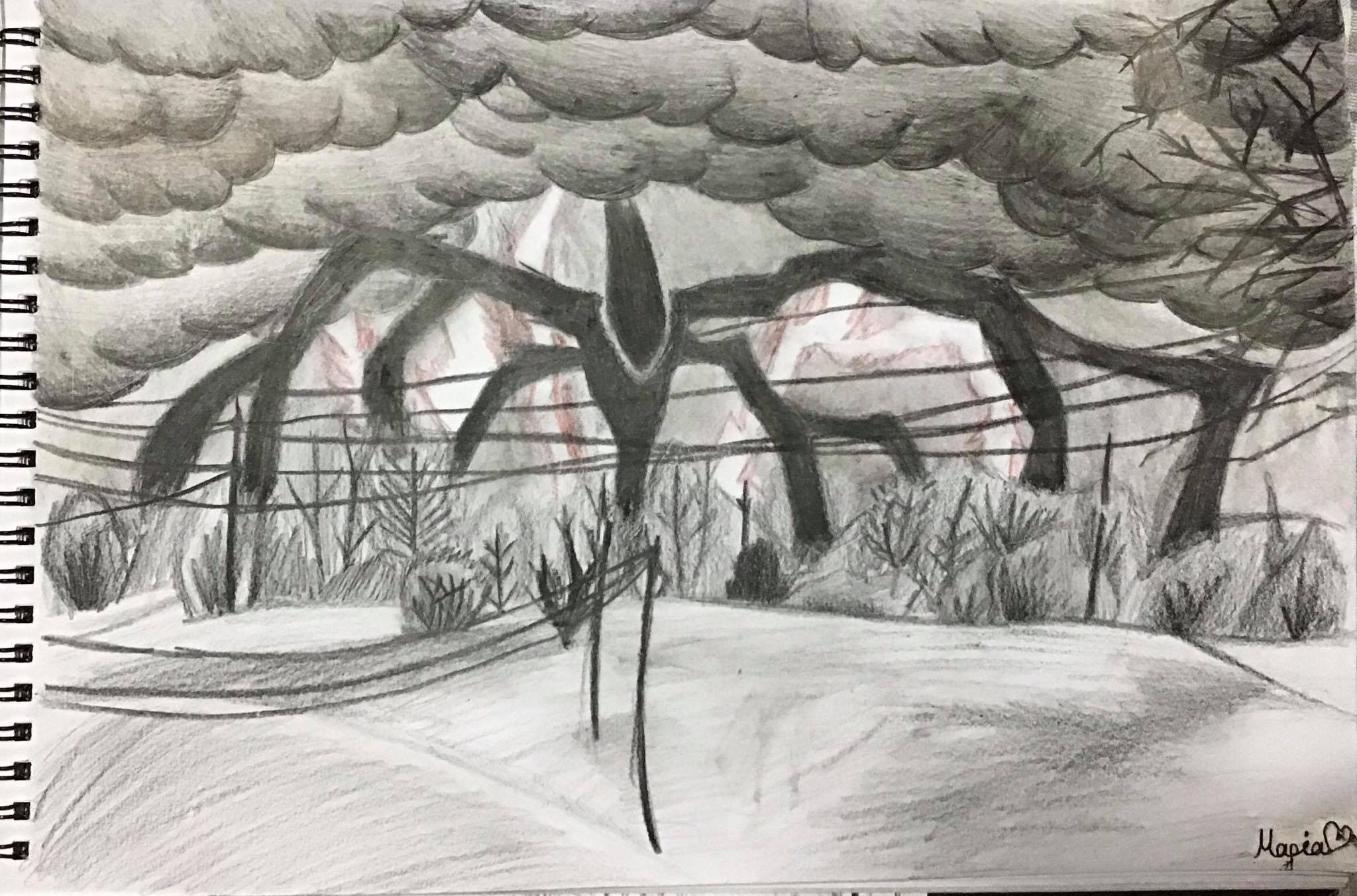 Stranger Things Will S Drawing The Mind Flayer Season 3 Mind Flayer Starship Concept Stranger
