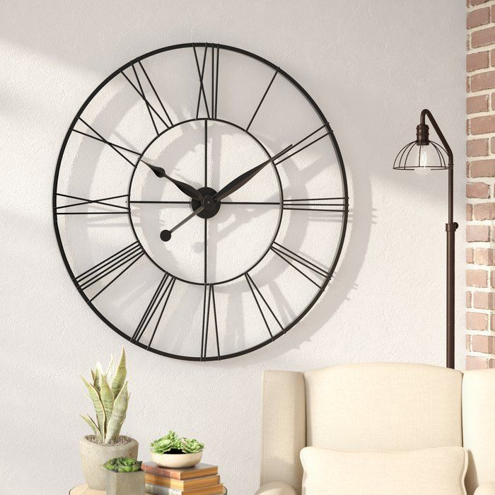 Oversized Grafton 45 Quot Wall Clock Oversized Clocks Big