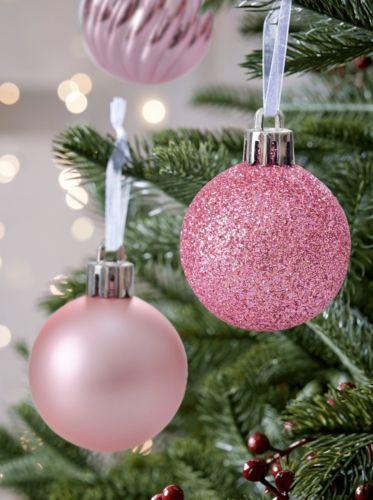 24pcs Shatterproof Christmas Tree Ball Ornaments Decorations Pastel Pink S Christmas Decorations Tree Ornament Decor Pink Christmas