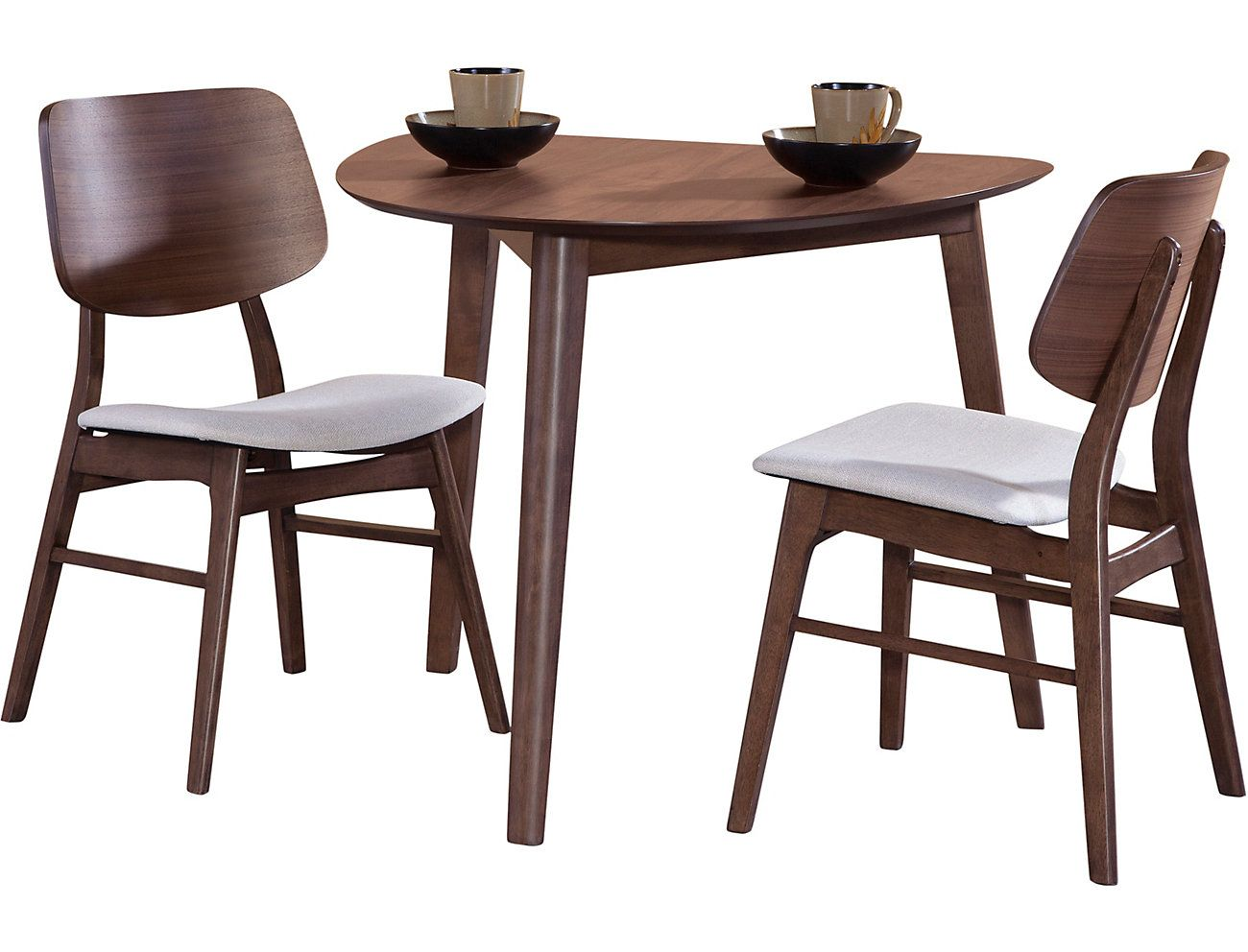 Oscar 9 piece Dining Set. Table and 9 side chairs. Walnut finish