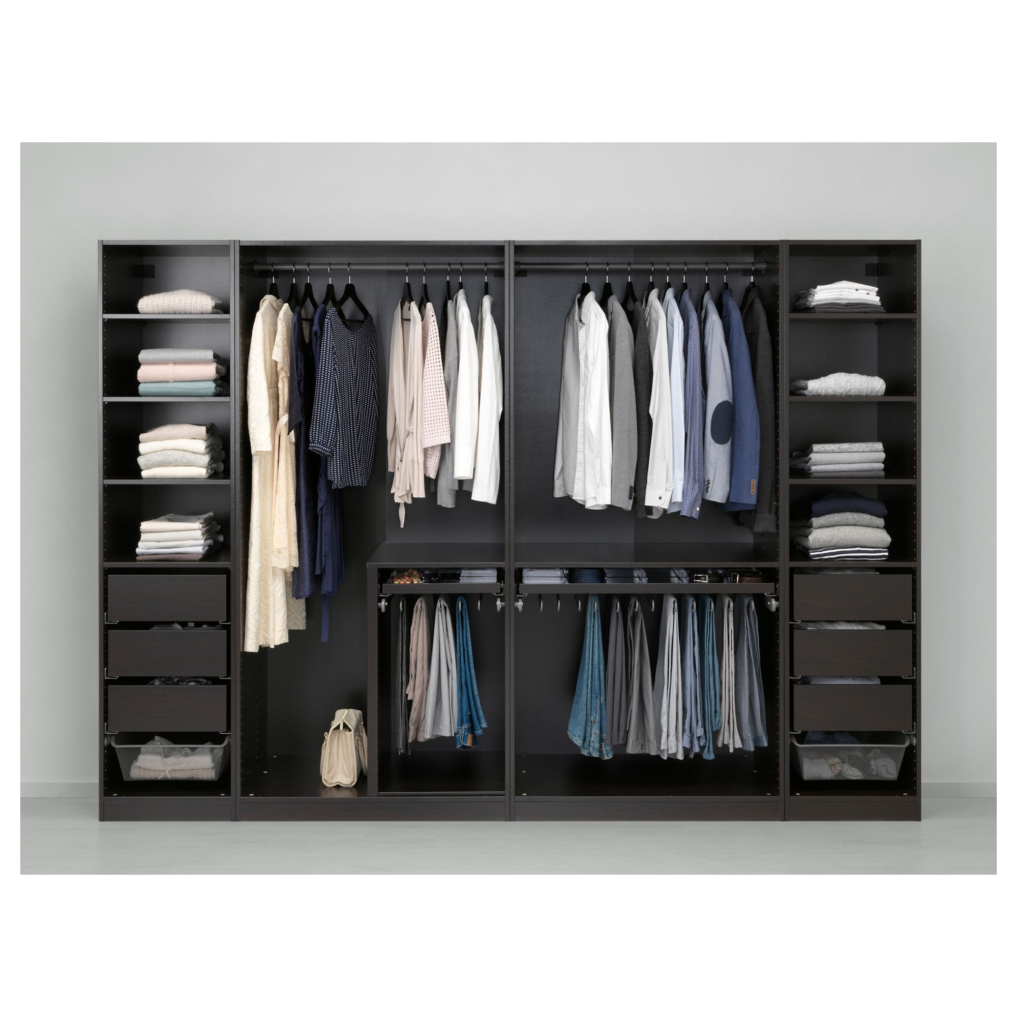 IKEA PAX Wardrobe blackbrown Undredal, Undredal glass