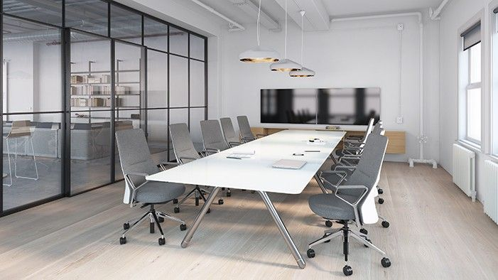 Potrero415 conference room meeting table coalesse - Interior design ideas for conference rooms ...