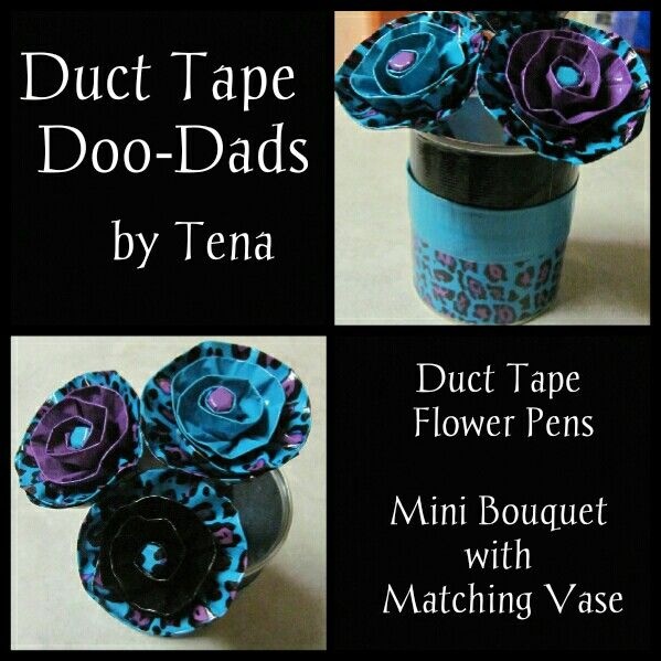 Duct Tape Flower Pens Mini Bouquet With Matching Vase Httpsm