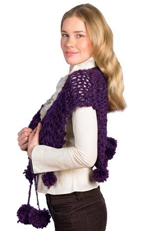 Maybe without the pom poms :) Knit with size 50 needles ...