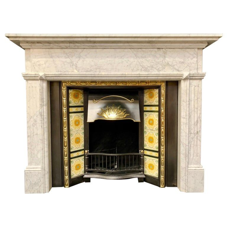 Aged Victorian Style Carved Carrara Marble Fireplace Surround In 2020 Marble Fireplaces Fireplace Surrounds Granite Fireplace