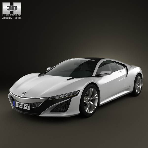 Acura NSX 2012 3d Model From Humster3d.com. Price: $75