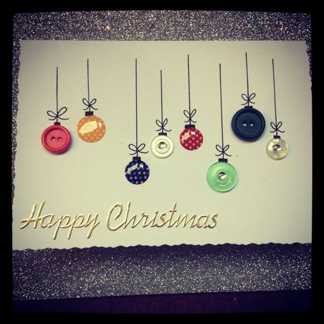 Christmas Craft Card Ideas Part - 47: My Handmade Christmas Card Idea Using Buttons